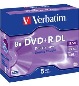 Dvd+r Verbatim 8,5gb doble capa VERDVDRDL Almacenamiento de datos - 023942435402