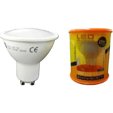 Todoelectro.es lampara led elektro gu-10 5w 3200k luz cálida elek35243