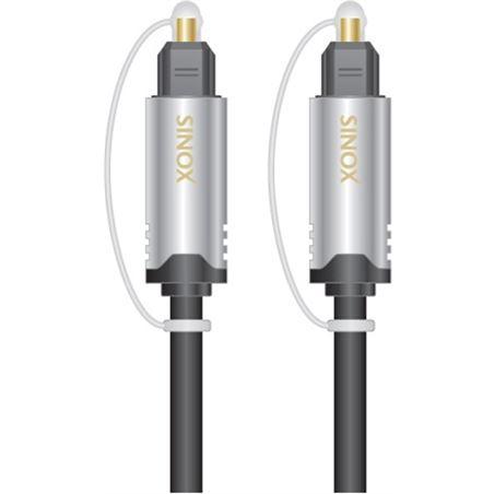 Cable audio óptico toslink digital 1,5 metros Sinox SINOSHD3602