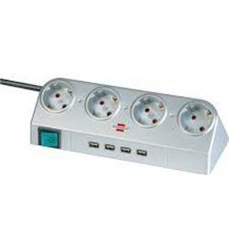 Todoelectro.es regleta brennenstuhl 4 interruptores conectores usb 2.0 1153540134 bre1153540134 - 1153540134