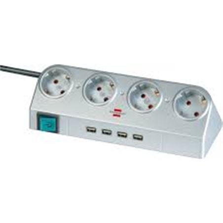 Todoelectro.es regleta brennenstuhl 4 interruptores conectores usb 2.0 1153540134 bre1153540134