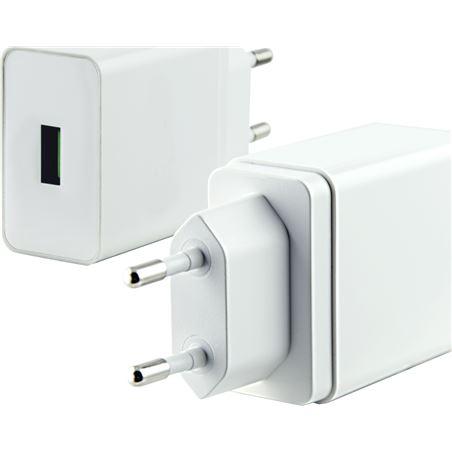 Todoelectro.es cargador pared quickcharge 3.0 2.4 amp blanco conbxcdusb1q3b