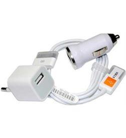 Todoelectro.es cargador 3en1 para ip4 i3 Cables - CARGADOR 3EN1 PARA IP4 I3