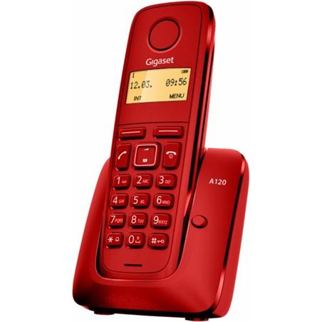 Siemens telefono inalambrico gigaset a120r, rojo