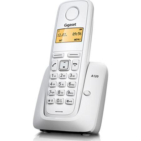Todoelectro.es telefono inalambrico gigaset a120w, blanco a120b