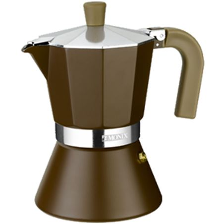 Cafetera inducción Monix 6 tazas, modelo cream M670006