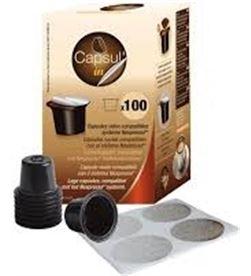 Todoelectro.es caja 100 capsulas recargables cafetera nespresso necapsulin - 5453003131007