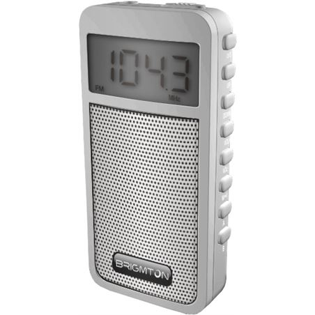 Radio am/fm digital altavoz memorias Brigmton blanco BRIBT_126_B