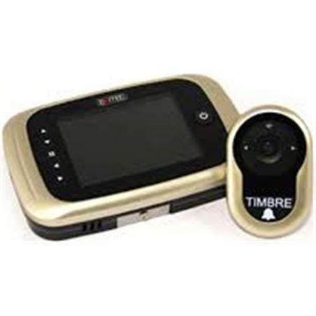 Mirilla digital grabadora de puerta Exitec 751, pa 751NIQUELMATE