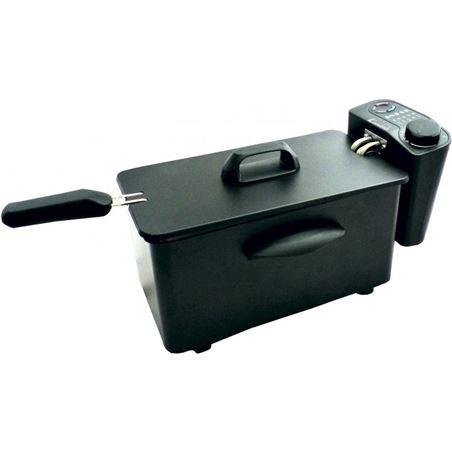 Comelec freidora 2.5 litros 1600w negra 8436018200811