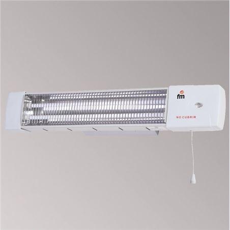 F.m. radiador de cuarzo fm 1502c 1200w, 2 barras de bañ
