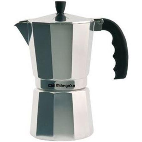 Cafetera inox Orbegozo KF300, 3 tazas, aluminio