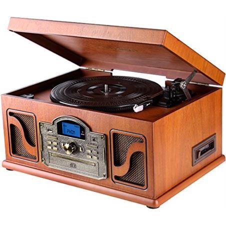Tocadiscos Lauson CL146 retro con cassette madera