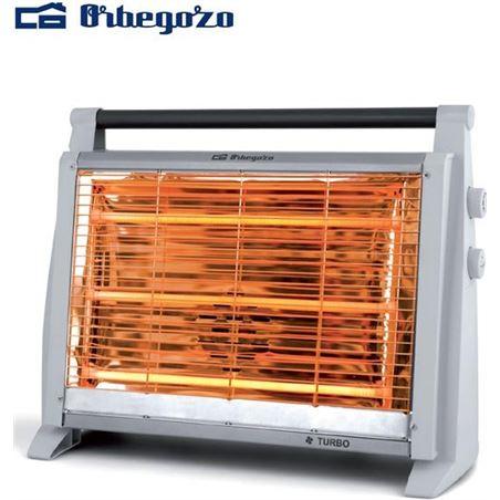 Radiador cuarzo Orbegozo BP1217, 1800w, 3 barras,