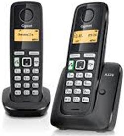Todoelectro.es telefono inalambrico duo gigaset a220duo, negro - A220DUO