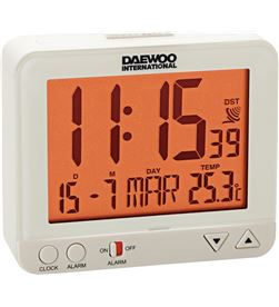 Reloj despertador Daewo DCD200W, pantalla re Radio y Radio/CD - DCD200W