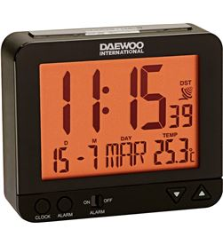 Reloj despertador Daewo DCD200B, pantalla re Radio y Radio/CD - DCD200B
