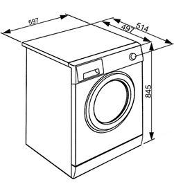 Smeg capacidad de carga 6kg, blanca, ancho 60cm, velo lbw610es - 8017709220709