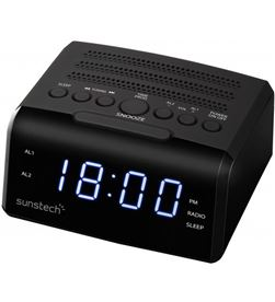 Sunstech FRD35UBK radio despertador , negro Radio Radio/CD - 8429015016646