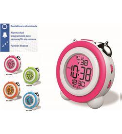 Reloj despertador Daewo DCD220PK, pantalla retroil - DCD220PK