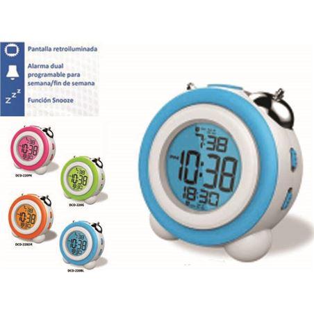 Reloj despertador Daewo DCD220BL, pantalla retroil