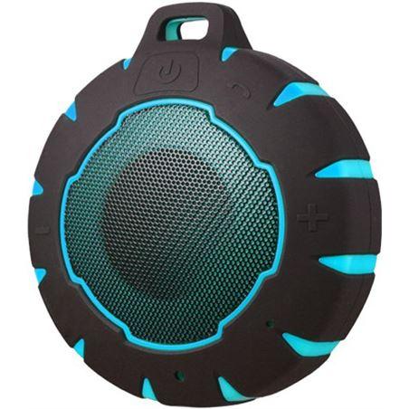 Altavoz bluetooth Sunstech SPBTAQUABL, azul/negro