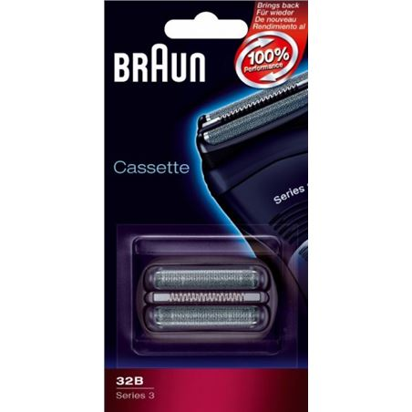 Lamina+cuchilla Braun apta afeitadoras nueva serie BRAPACK32B