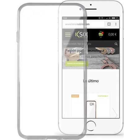 Funda flex ultrafina Ksix tpu iphone 7 transpar. B0935FTU00