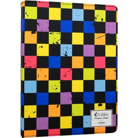 E-vitta funda universal con teclado para tablet de 10,1'' squares evttevun000807