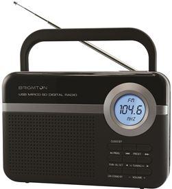 Brigmton BT-251-N radio digital pll usb/microsd/alarma negro bribt_251_n - BRIBT_251_N