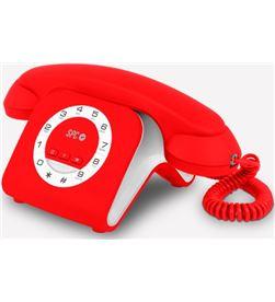 Spc teléfono bipieza telecom retro elegance mini rojo tlc3609r - 8436542852524