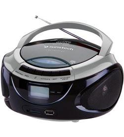 Radio cd Sunstech crusm395btsl bluethooth, plata/n CRUSM395BTBL - CRUSM395BTSL
