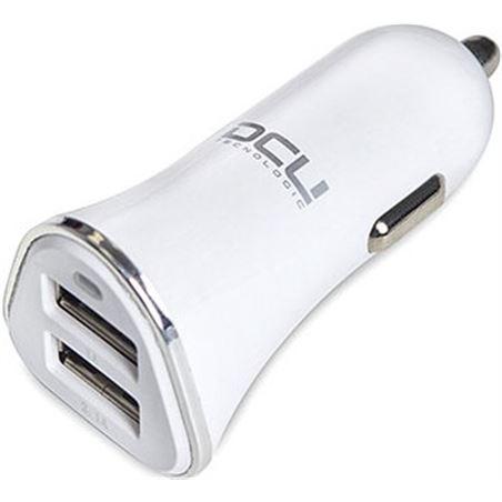 Todoelectro.es cargador coche 2xusb 3.1a blanco dcu 3610030 36100305