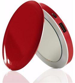 Fidelity espejo power bank hyper pearl red usb 3000mah 115171 - 115171