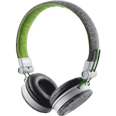 Auricular diadema Trust fyber gris verde TRU20080