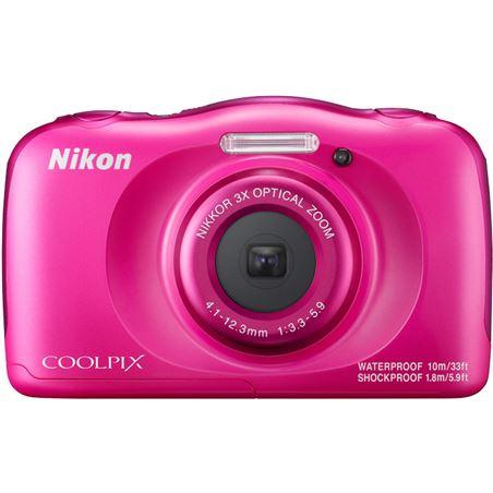 Cámara de fotos Nikon coolpix w100 sumergible pink 13mp 4x NIKW100P