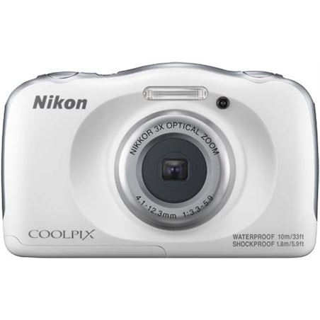 Cámara de fotos Nikon coolpix w100 sumergible white 13mp 4x NIKW100WH