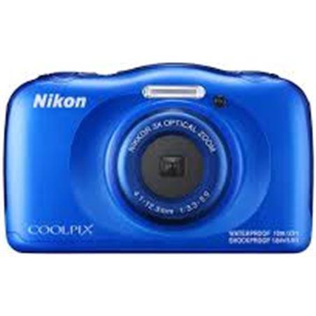 Nikon cámara de fotos  sumergible coolpix w100 blue 13mp 4x nikw100bl
