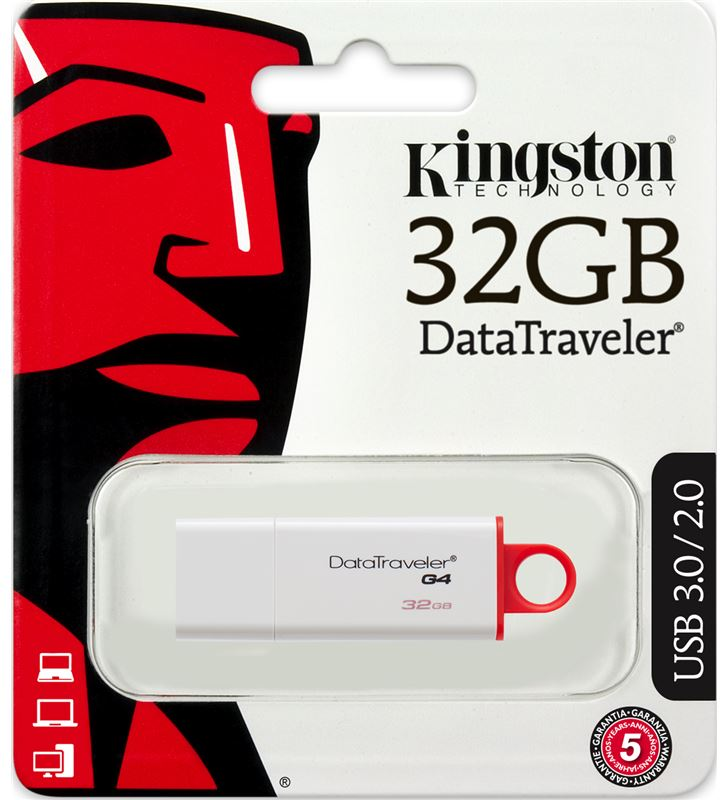 Pendrive 32gb Kingston dtig4/32gb datatraveler roj KINDTIG4_32GB - 20494820_795