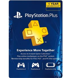 Sony playstation plus card per a 365 dies/spa sps9809449 - 0711719809449