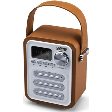 Radio retro digital  bluetooth Daewo DBT07OR, naranja