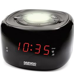 Daewo DBF232 radio reloj despertador o dcr-440 negra - 8413240601968