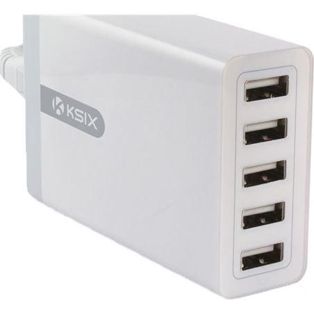 Todoelectro.es cargador pared 5 puertos usb 8 amperios blanco conbxcdu5