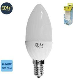Todoelectro.es bombilla vela led 5w e14 6400k luz fría edm elek35492 - 8425998354928