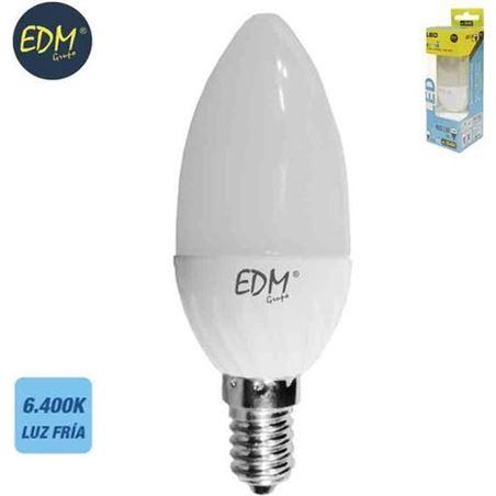 Todoelectro.es bombilla vela led 5w e14 6400k luz fría edm elek35492