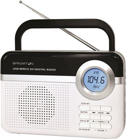Radio digital Brigmton bt-251 blanca BRIBT_251_B Radio Radio/CD - BRIBT_251_B