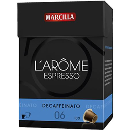Capsula cafe descafeinado l' arome Marcilla MAR4028362