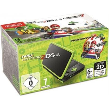 Consola new Nintendo 2ds xl negro/lima + mario kart 7 NIN2219066