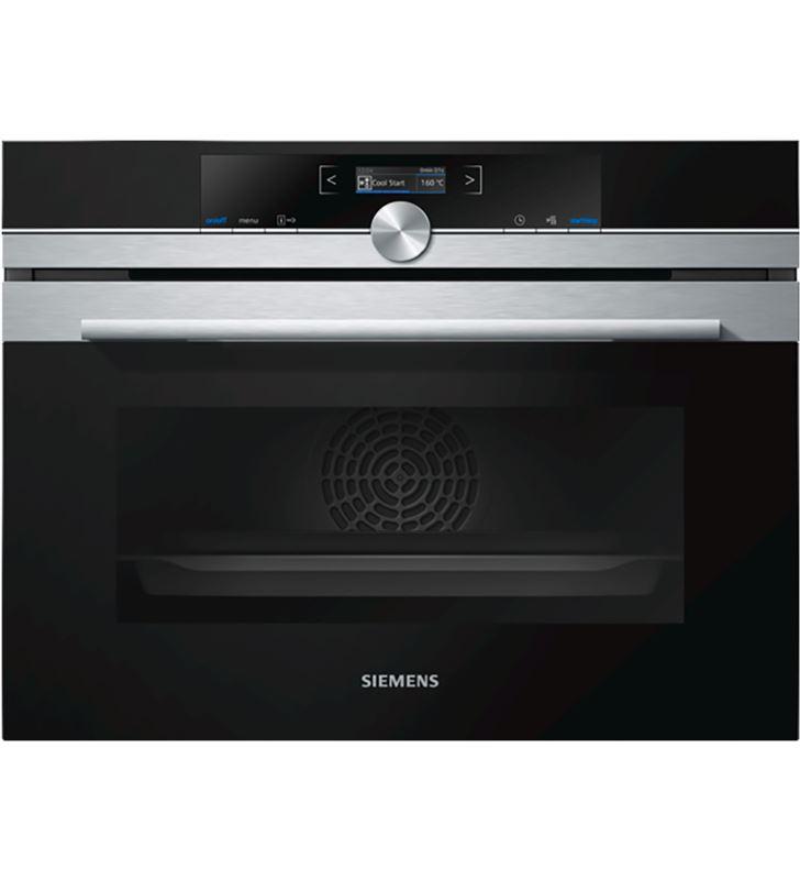 Siemens compacto multifunción (13), encastrable, 45 cm., 47 l., cristal negro/inox, cb635gns3 - 4242003836491