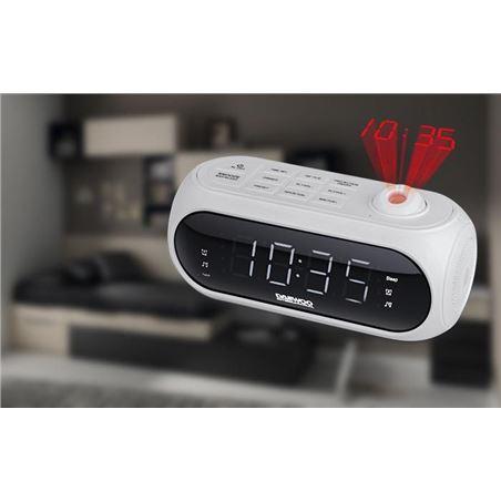 Radio reloj despertador Daewoo dcp-490 proyección blanco DBF236